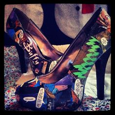 Comic book heels Buffy the Vampire Slayer by BlingByBrittBoutique, $78.00