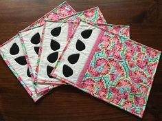 Placemats Watermelon Quilted Summer Decor Placemats Quilted