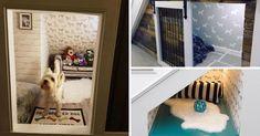 Une maison pour votre chien – ou chat – sous l'escalier. #escaliers #escaliersinterieur #rangement #décomaison #maisondecor #chien #chat