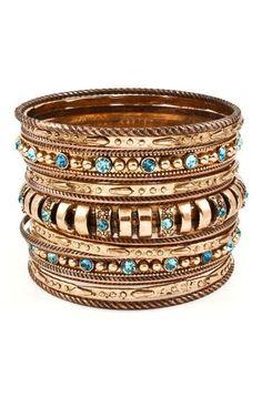 Stacking Bangle Bracelet Set <3