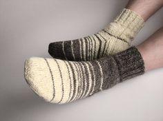 fd9db6d1d00 Christmas gift stockings Knee high hand knit socks Fair Isle Nordic winter  warm natural wool long boot socks Anniversary gift for girlfriend