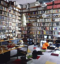 Photograph by William Waldron. Shelves galore.