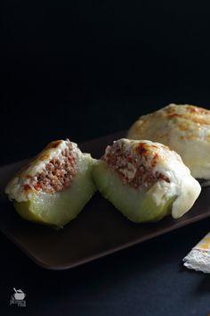 Chayotas rellenas de carne, receta de mi madre. Cocina canaria