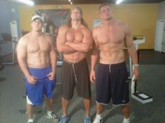The Gronkowski brothers. Chris, Dan & Rob. Chris looks tiny next to the other 2 despite being 6'2""