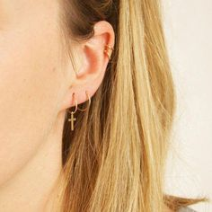 20 mm Femme 14K OR MASSIF CALIN Diamond Cut hoop TUBE Boucles d/'oreilles 2 mm épais