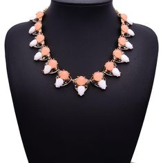 5.51€ - Chain colorful crystal gems Resin necklace 4580 - Best Lady Jewelry Store