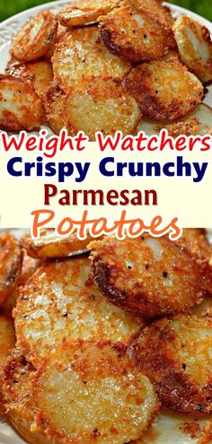 Crispy Crunchy Parmesan Potatoes– These oven baked potatoes are perfect for a side or even just a snack.  Just a fleeting glance at theseCrispy Roasted Parmesan Potatoes is all you need toKNOWthat these are utterlyaddictive and that you'll be fighting to make sure you get your fair share.  #crispy_crunchy_parmesan_potatoes #Skinnyrecipes #skinny #weightwatchers #weightwatchersrecipes #weight_watchers #crispycrunchyparmesanpotatoes #food #parmesan_potatoes #crispy_crunchy  #WWrecipes