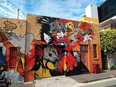 Dave Hooks aka Meggs - Finished St Alis Wall   Melbourne