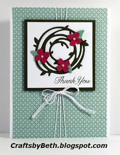 """Stampin' Up! Products Whisper White cardstock Card base measures 4 1/4"""" x 5 1/2"""" Card layer measures 2 3/4"""" x 2 3/4"""" Mint Macaron..."""