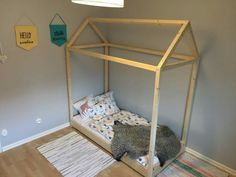 DIY - Hussäng (sänghus) till barnrummet. Bergq.se Barnrummet, Toddler Bed, Room, Furniture, Home Decor, Beds, Child Bed, Bedroom, Decoration Home