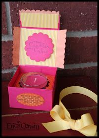 Pink Buckaroo Designs, Erica Cerwin Stampin' Up Demonstrator, San Antonio, TX: Candle Box Tutorial