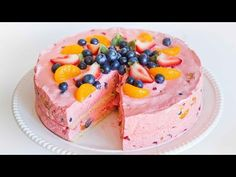Jello Fruit Mousse Cake - YouTube.... delicious! Highly recommend to try, my Pin friends.... Raysa Santo Domingo