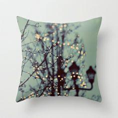 Winter Lights Throw Pillow by Elle Moss - $20.00 for winter!