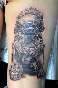 Female Foo Dog #tattoo