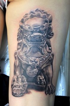 Female Foo Dog #tattoo