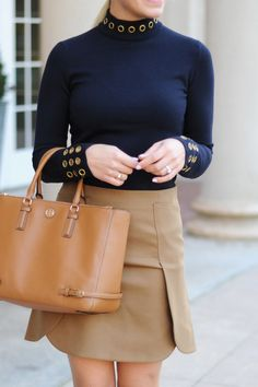 Chic navy and beige fall look