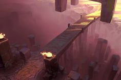 Scary bridges are also bread and butter for roleplaying.  Original Concept Art - Ross Grams