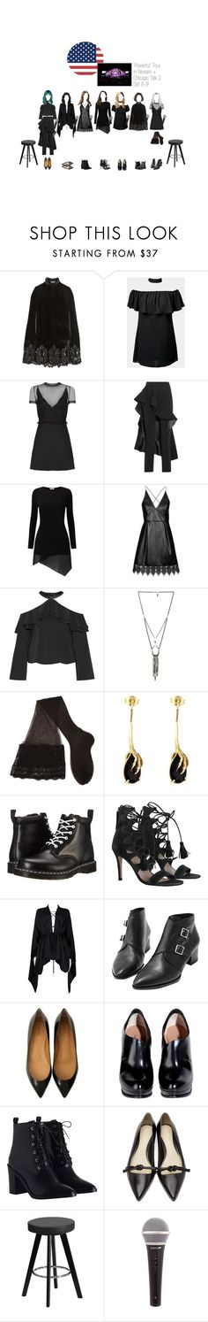 """Powerful Tour // In Newark and Chicago"" by official-angel ❤ liked on Polyvore featuring Erdem, Valentino, Esteban Cortazar, Phase Eight, Topshop, Alice + Olivia, Ettika, CERVIN, Wouters & Hendrix Gold and Dr. Martens"