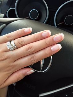 My American French Manicure - 'Squarely Round' Shaping