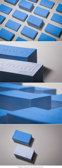 business card design two color emboss embossed logo