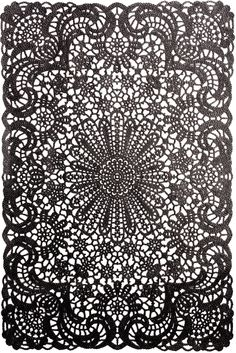 Add some Victorian flair to your tabletop with this ornate placemat! This black vinyl placemat looks like lace but is so much easier to clean. Bliss Home And Design, Dark House, Yard Design, Cool Diy, Household Items, Home Decor Accessories, Leather And Lace, Pattern Design, Wallpaper
