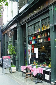 The Troubadour, Old Brompton Road, Opened in 1954 this coffee shop is famous for folk music performances including in the past Bob Dylan, Joni Mitchell and Simon  Garfunkel among many others. Still a great venue with terrific atmosphere.