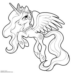 Princess Celestia by LCibos on DeviantArt Space Coloring Pages, Horse Coloring Pages, Unicorn Coloring Pages, Cute Coloring Pages, Coloring Books, Disney Princess Coloring Pages, Disney Princess Colors, My Little Pony Coloring, My Little Pony Drawing