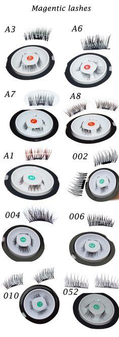 Single magnetic eyelashes  Magnet eyelashes