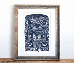 Native American Totem Sloth Small Screenprint Choose by Monorail, $12.00