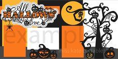 Miss Kate layout idea: All Hallows' Eve Title SVG scrapbook title SVG cutting files crow svg cut file halloween cute files for cricut cute cut files free svgs