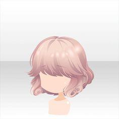 ヘアスタイル ドレスアップガーリーミディアムヘアピンク