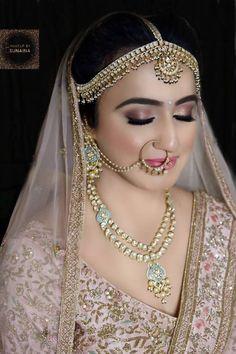 Elegant Indian Bridal Makeup Look Loading. Elegant Indian Bridal Makeup Look Bridal Hairstyle Indian Wedding, Indian Wedding Makeup, Indian Wedding Bride, Indian Bridal Outfits, Indian Bridal Hairstyles, Indian Bridal Fashion, Indian Bridal Wear, Indian Wedding Jewellery, Indian Weddings
