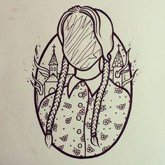 Wednesday Addams. Tattoo.