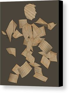 Music Man Canvas Print featuring the mixed media Music Man by Marvin Blaine