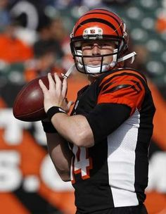 The Cincinnati Bengals quarterback Andy Dalton gets ready to take on the  Denver Broncos prior to their game at Paul Brown Stadium. b4932ae45