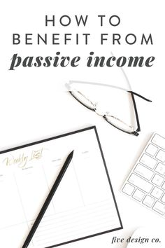 How To Benefit From Passive Income | Entrepreneur Tips | Interested in incorporating passive income products? Click to learn income boosting tips for your online business like affiliate marketing, creating a digital product, the benefits of a membership program and learn how to incorporate these strategies. | Business Strategies | Membership Program | Passive Income Ideas | Five Design Co. #affiliatemarketing #marketingstrategies #entrepreneurtips #smallbusinesstips #marketing #passiveincome Email Marketing Strategy, Marketing Program, Business Marketing, Affiliate Marketing, Online Business, What Is Passive Income, Email Writing, Workplace Wellness, Online Entrepreneur
