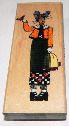 Inkadinkado Rubber Stamp With Wood Handle-Dog Paw