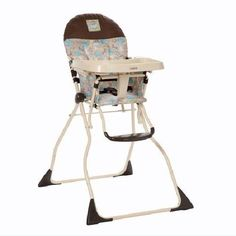 Baby High Chair Booster Seat Folding Feeding Space Saver Lightweight Safe Tray  #Cosco