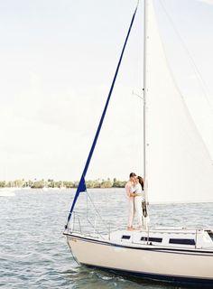Sweet Sailboat Engagement Session : Bajan Wed