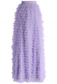 Swan Cloud Maxi Skirt in Purple