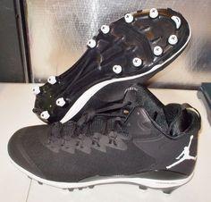 NEW NIKE AIR JORDAN SUPERFLY 3 TD Football Cleats MENS Black White LUNARLON #Nike #FootballCleats