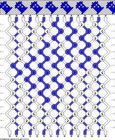 Tardis Friendship Bracelet Pattern. Could life get any better???