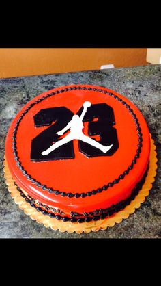 My son turned 23, so I got him a Michael Jordan Cake. It came out awesome