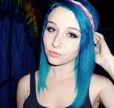 #bluehair #blueeyes #colorfulhair #septum #peircings #makeup