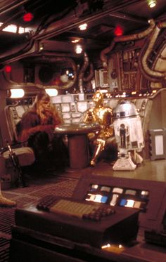 Having a chat. Star Wars: Episode IV.