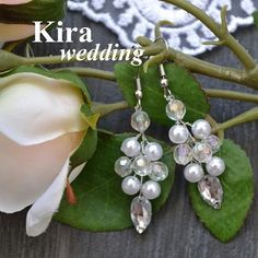 10 отметок «Нравится», 1 комментариев — Kira Wedding г. Балаково (@kirawedding_balakovo) в Instagram: «Серьги в наличии и под заказ в любом цвете! Цена сережек среднего размера 300 руб. #ручнаяработа…»