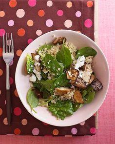 Warm Quinoa, Spinach and Shiitake Salad