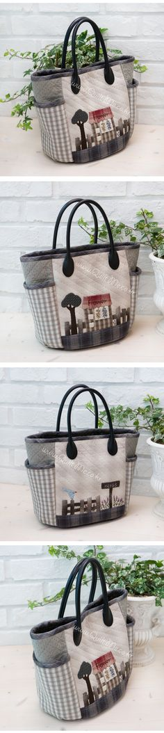 .Landscaping bag  with gardens and houses. Very interesting and creative.