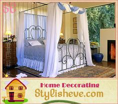 Another canopy bed with curtains