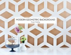 MAY DIYS – Modern Geometric Background